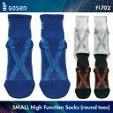 ゴーセン:GOSEN F1702  SMALL:ジュニア用、足の小さい方向け高機能ソックス(先丸) バドミントン テニス バドミントンウェア テニスウェア 靴下 サイズ:19-21cm