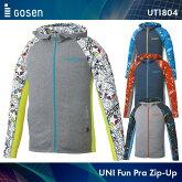 ゴーセン:GOSENファンプラジップアップUT1804UNISEX:男女兼用ウィンドウォーマーバドミントンウェアテニスウェア