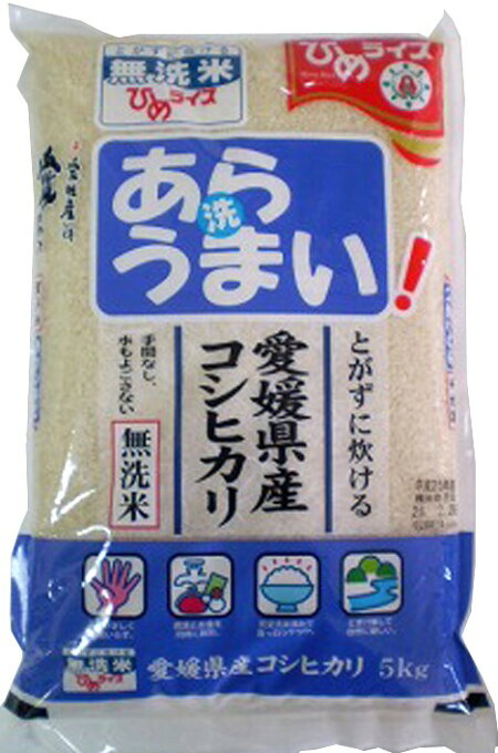 無洗米 あらうまい コシヒカリ 5kg 令和2年愛媛県産精米...