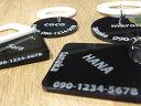 シンプル 迷子札 名札 選べる4デザイン ブラック&ホワイト 組合せ アクリルチャーム 「名前 TEL 入れます」 隠れるデザイン 犬 猫 グッズ ネームプレート ハンドメイド商品 その1