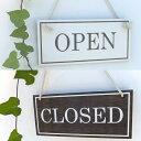 オープン&クローズ看板 おしゃれな 木製 オープンプレート OPEN ...