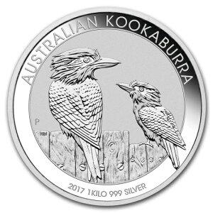 Новая неиспользованная австралийская кукабарра 2017 года (Зимородок) Серебряная монета 1 кг с прозрачным футляром