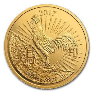Brandneue unbenutzte 2017 Australian Zodiac Bird Goldmünze 1/4 oz 22mm mit klarem Gehäuse RAM