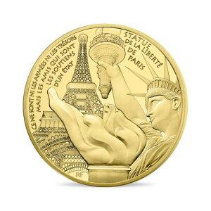 Brandneue unbenutzte französische Goldmünze 2017 1 Unze STATUE OF LIBERTY Proof