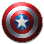 2019フィジーキャプテン・アメリカの盾銀貨1オンスプルーフ箱とクリアケース付き新品未使用