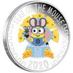2020ニウエ干支:子年ミニオン銀貨1オンスプルーフギフトカードパッケージ付き新品未使用(10月上旬以降発送予定)