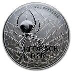 2020 オーストラリア セアカゴケグモ 銀貨 1オンス 40mmクリアケース付き 新品未使用