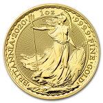 2020イギリスブリタニア金貨1オンス33mmクリアケース付き新品未使用