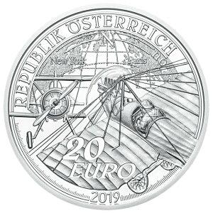 2019 г. В Австрии появился серебряный билет 20 евро с коробкой и прозрачным футляром, новый неиспользованный