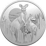 2020オーストラリア夜明けのカンガルー1ドル銀貨1/2オンスプルーフ箱とクリアケース付き新品未使用(11月上旬以降発送予定)