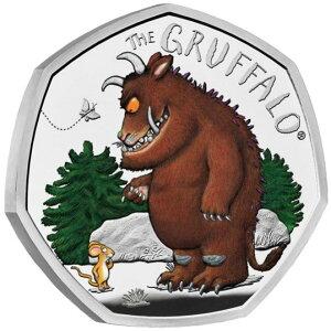 2019英式Grafaro和Mouse 50便士银币, 带有证明盒和透明盒新未使用