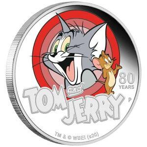 2020年图瓦卢汤姆和杰里1美元银币1盎司, 带有证明盒和透明盒新未使用