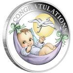 2020オーストラリア新生児お祝い銀貨1/2オンスプルーフ箱とクリアケース付き新品未使用