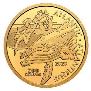 2020 Canada Canada Coast Symbols: Atlantic 99,999% Gold Coin with 1 once once and clear case Nouveau inutilisé