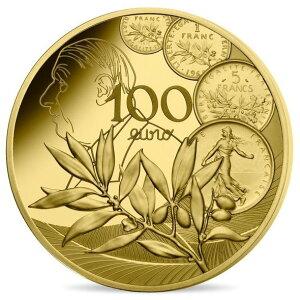 2020 Frankreich Nouveau Franc 100 Euro Goldmünze 1/2 Unze mit Proofbox und Klarsichtetui Neu unbenutzt