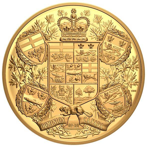 2020 カナダ 1905年カナダの紋章再現 2500ドル金貨 1キロ プルーフ 箱とクリアケース付き 新品未使用 (2月中旬以降発送予定)