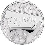 2020イギリスクィーン銀貨1/2オンスプルーフ箱とクリアケース付き新品未使用