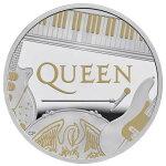 2020イギリスクィーン銀貨1オンスプルーフ箱とクリアケース付き新品未使用