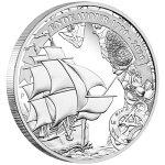 2020オーストラリア探検航海:エンデバー1770-20201ドル銀貨1オンスプルーフ箱とクリアケース付き新品未使用