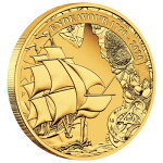 2020オーストラリア探検航海:エンデバー1770-202025ドル金貨1/4オンスプルーフ箱とクリアケース付き新品未使用