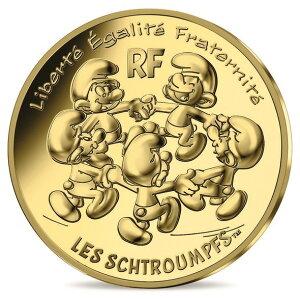 2020 Франция Smurf: Карусель Smurf's 200 евро, золото 3 г, футляр для карточек Новое неиспользованное