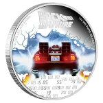 2020ニウエバック・トゥ・ザ・フューチャー35周年記念2ドル銀貨1オンスプルーフ特別パッケージ付き新品未使用