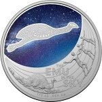 2020オーストラリア星の夢:空のエミュー1ドル銀貨1/2オンス箱とクリアケース付き新品未使用