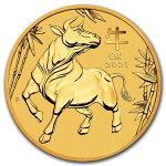 2021オーストラリア干支:丑年15ドル金貨1/10オンス17mmクリアケース付き新品未使用(12月中旬以降発送予定)
