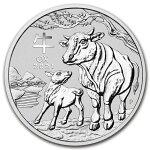 2021オーストラリア干支:丑年1ドル銀貨1オンス41mmクリアケース付き新品未使用(12月中旬以降発送予定)