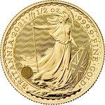 2021イギリスブリタニア金貨1/2オンス27mmクリアケース付き新品未使用