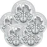 2021オーストリアウィーン銀貨1オンス■【5枚】セット37mmクリアーケース付き新品未使用(12月下旬以降発送予定)