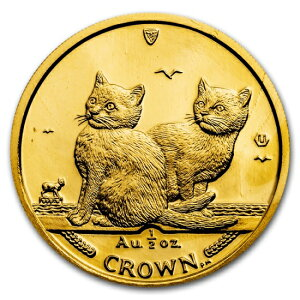 2003 Isle of Man Cat Gold Coin 1/2 oz Balinese Cat with Clear Case