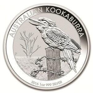 新品未使用 2016オーストラリア クッカバラ(カワセミ) 銀貨 1オンス クリアーケース付き