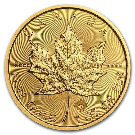 2019 カナダ メイプルリーフ金貨 1オンス 10枚セット (30mmクリアケース付き) 新品未使用