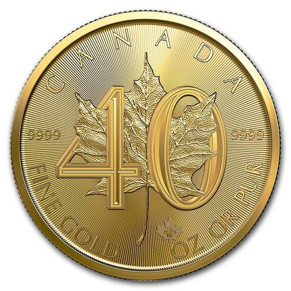 2019 カナダ メイプルリーフ40周年記念金貨 1オンス 10枚セット 30mmクリアケース付き 新品未使用