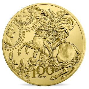 2019 г., Франция Жерминаль Франк Золотая монета 1/2 унции в прозрачном футляре Новое, не использованное