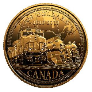 2019 канадско-канадская национальная железная дорога 100-летие золотая монета 1/2 унции с коробкой и прозрачным футляром Новое неиспользованное