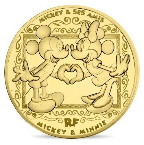 2018 フランス ミッキー&フレンズ 200ユーロ金貨 1オンス プルーフ クリアケース付き 新品未使用