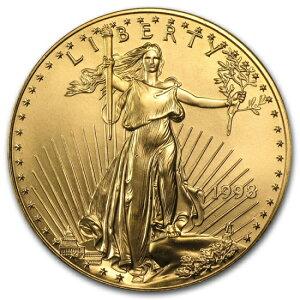1998 American Eagle Gold Coin 1 Unze (mit 33 mm klarem Gehäuse)