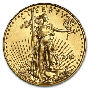 2010 American Eagle Gold Coin 1/10 oz [with 17mm clear case]