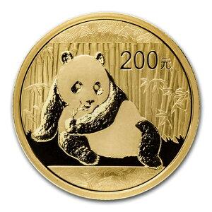 新品未使用 2015 中国 パンダ金貨1/2オンス 200元 真空パック入り