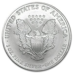 新品未使用 2007 アメリカ イーグル銀貨1オンス(41mmクリアーケース付き)