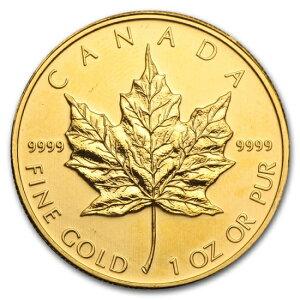 Nagelneue unbenutzte 2011 kanadische Ahorn-Goldmünze 1 Unze. (Mit 30mm klarem Gehäuse)