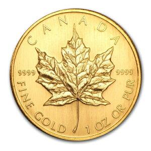 Nagelneue unbenutzte 2003 kanadische Ahorn-Goldmünze 1 Unze. (Mit 30mm klarem Gehäuse)