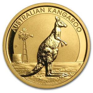 New, unused 2012 Australia, Kangaroo gold coin 1/2 oz with clear case