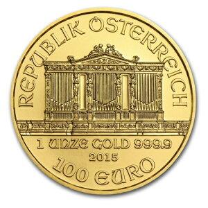 Brand New Unused 2016 Vienna Gold Coin 1 oz (37 mm Clear Case & Luxury BOX)