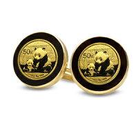 2013年1/20オンスパンダ金貨付きカフスリンクス2個セット