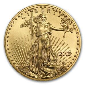 Hergestellt in 2015 Eagle Gold Coin 1/4 Unze [mit 22 mm klarem Gehäuse]