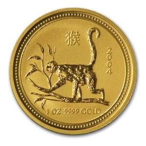 Zodiac Monkey Goldmünze 1 Unze Hergestellt im Jahr 2004 (Serie I)