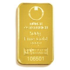 新品未使用500グラム オーストリア造幣局 ゴールドバー .9999%